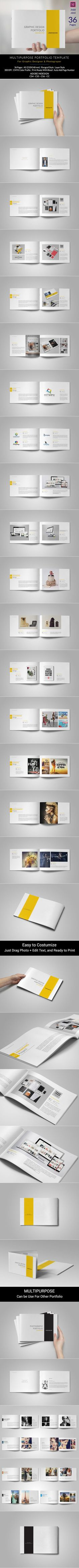 This is 36 page minimal brochure template is for designers working on product/graphic design portfolios interior design catalogues, product catalogues, Portfolio Photography and agency based projects. Just drop in your own images and texts, and it's Ready…