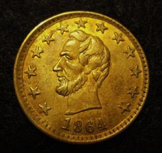 A. Lincoln 1864 Presidential Campaign Medalet.