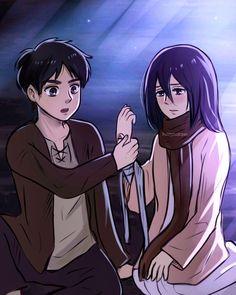 Manga Anime, Anime Art, Eren And Mikasa, Eremika, Best Couple, Beautiful Artwork, Attack On Titan, Cute Boys, Fan Art