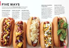 Do a layout about lunch! Favorite kids' lunches Five Ways to Dress Your Dog - Everyday Food Magazine