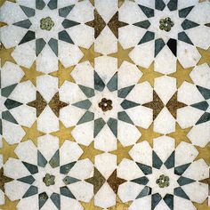 Detail of Tomb of Itmad-ud-Daula, Agra, Uttar Pradesh, India - tiles Indian pattern
