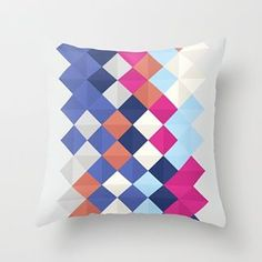 TRIANGLOW Throw Pillow https://society6.com/product/trianglow_pillow #society6 #society6art #sorbetedelimon #sorbetedelimonprints #fucsia #blue #triangle #triangles #gift #GetToGivin #regalo #christmas #throwpillow #pillow #cojines #cojin #home #decor #design #decoration #bedroom #etnik #boho#colorful #rombs #grey #nordic #scandinavian #nordicdesign #inselly