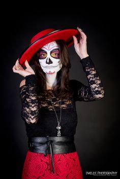 Dià de los muertos - Sugar Skull Studio Portraits, Halloween Face Makeup, Photography, Day Of The Dead, Death, Photograph, Professional Headshots, Fotografie, Photoshoot