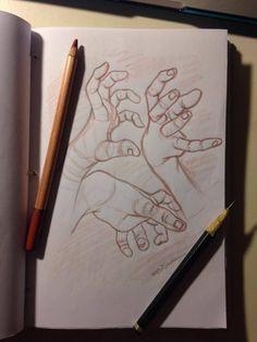 Estudos de mãos -Edi santos.  Studies of hands-Edi santos