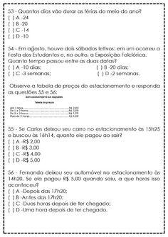Atividades de Matemática para 5º Ano - Reforço - SÓ ESCOLA Math Equations, Education, Lima, Teaching Math, Interactive Activities, Reading Assessment, Math Questions, Activities, Embroidery
