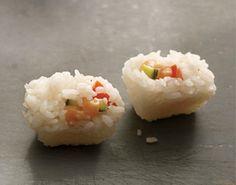 Oscar party menu: ice cube tray sushi