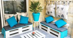 cute, chill out terrace space: with pallets, of course