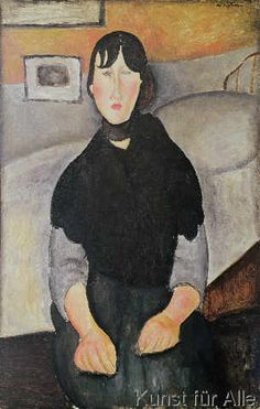 Amedeo Modigliani - Young Woman of the People