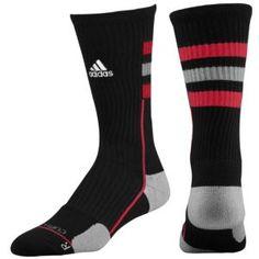 adidas Team Speed Crew Sock - Men's - Basketball - Accessories - Black/Aluminum/University Red