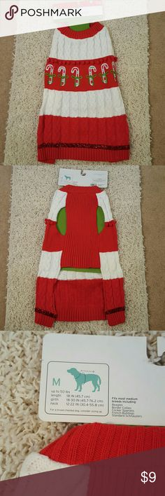 NWT Ugly Christmas Sweater This is adorable!! It was too big for my pooch but would be perfect for a medium size dog. Brand New with Tag! Costumes Seasonal