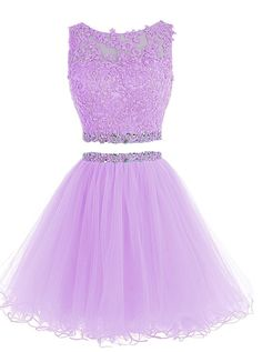 Amazon.com: HTYS Beaded Two Pieces Prom Dresses Applique Short Homecoming Dresses HY115: Clothing