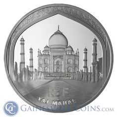 Gorgeous! - 2010 10 Euro Silver Proof UNESCO The Taj Mahal, Includes Box and Cert (.6423 oz of silver) http://www.gainesvillecoins.com/category/568/europe-silver-coins.aspx