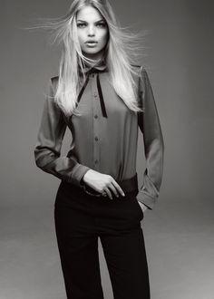 Daphne Groeneveld Pose on Glass Magazine Fall 2015 Editorial Photoshoot