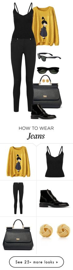 """""""Retro Loose."""" by foreverforbiddenromancefashion on Polyvore featuring Dolce&Gabbana, Versace, Burberry, Ray-Ban and Tiffany & Co."""