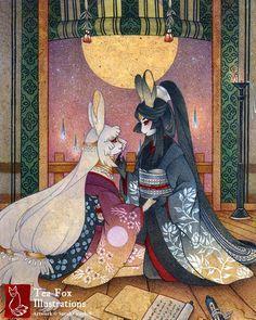 Absolutely beautiful piece. Tea Fox Illustrations.
