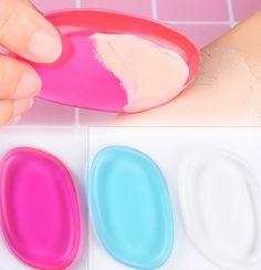 Cosmetic Puff Bud K 100% New Hot Silisponge Blender Silicone Sponge Makeup Puff For Liquid Foundation Bb Cream Beauty Essentials
