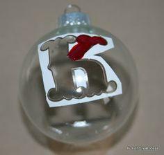 Monogrammed Ornament using Nail Polish