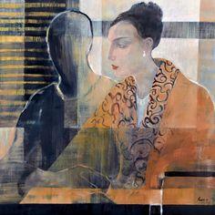Elizabeth Rees NZ -- Softly Spoken 2011 Portrait Paintings, Abstract Portrait, Abstract Paintings, Artist Painting, Figure Painting, Oil Paintings, Example Of News, New Zealand Art, Nz Art