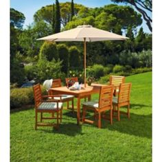 Buy Madison 6 Seater Dressed Patio Set - Express Delivery at Argos.co.uk - Your Online Shop for Garden table and chair sets, Garden furniture express delivery.