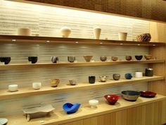 Tea Bowls displayed in Isetan in Shinjuku