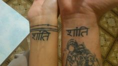 """Done on the couples wedding day. Handpoked """"peace be upon thee"""""""