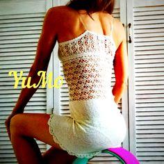 YuMo Crochet. Bikini, Undershirt, Dress, Underwear. Silk. Нижнее платье и бикини крючком, #2. Шелк. Underwear, Selfie, Lingerie