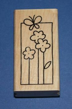 NEW Stampendous 'Butterfly Bloom Window' Rubber Stamp 🦋 Flower Quotes, Window Art, Mothers Day Crafts, Stamps, Bloom, Butterfly, Windows, March, Mac