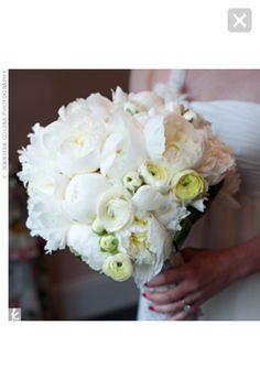 White Peony Bouquet - my favorite of the white bouquets I've seen
