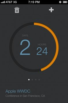 UltraUI | UI Design & Inspiration — Countdown for iPhone