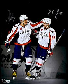 "Alex Ovechkin & Evgeny Kuznetsov Washington Capitals Autographed 16"" x 20"" Spotlight Photograph - Fanatics Authentic Certified"