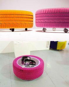 gebrauchte autoreifen kreativ und nachhaltig umfunktionieren lassen autoreifen upcycling und. Black Bedroom Furniture Sets. Home Design Ideas