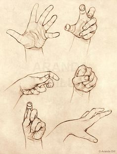"This image is a collection of hands with various gestures during a Figure Drawing session. It belongs to the artist ""ElephantWendigo"" on Deviantart. This image motivates me to become better at my craft of realistic drawing and making a convincing piece of art. The ability to Master this trait is to be proficient - if not the best - at this approach to art. I am motivated to become a better artist by a vast majority of inspiration found on both this site and through my colleagues."