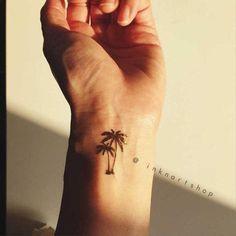 Small Palm Tree Tattoo