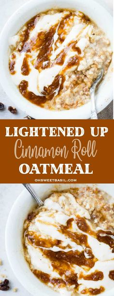 Oatmeal cookies, oatmeal protein energy bites, oatmeal for breakfast, you name it and we love oatmeal. Our lightened up cinnamon roll oatmeal even tastes like it has a cream cheese frosting! #oatmeal #easyrecipes #easybreakfastrecipes #easybreakfast #kidfriendly #kidfood #pickyeaters #oatmealrecipe #cinnamonroll #creamcheesefrostin
