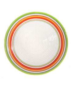 Take a look at this Calypso Salad Plate - Set of Four by Clay Art on #zulily today!