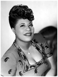 "Ella Jane Fitzgerald 4/25/1917-6/15/1996 American jazz singer often referred to as the First Lady of Song, Queen of Jazz and Lady Ella. Fitzgerald started singing with Chick Webb's big band and soon became its star. She recorded ""A Tisket-A Tasket"" in 1938 and a 14-time Grammy Award winner."