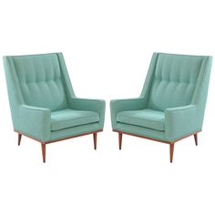Early Milo Baughman Lounge Chairs