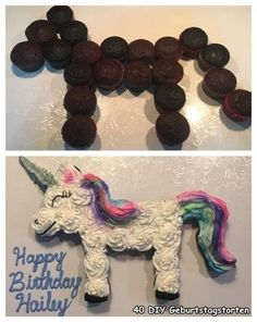 Einhorn Cupcake Kuchen - Famous Last Words Diy Birthday Cake, Unicorn Birthday Parties, 7th Birthday, Birthday Ideas, Unicorn Cupcakes Cake, Cupcake Cakes, Easy Unicorn Cake, Teen Cupcakes, Unicorn Themed Cake