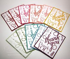 Using Another Thank You photopolymer stamp set - http://stampwithkriss.com/rainbow-of-thank-yous