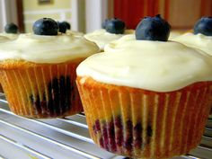 lemon blueberry cupcakes. i didnt use the icing recipe cuz i dislike icing, and couldnt find my honey.