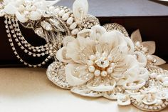 Couture Hand Beaded Bridal Headband
