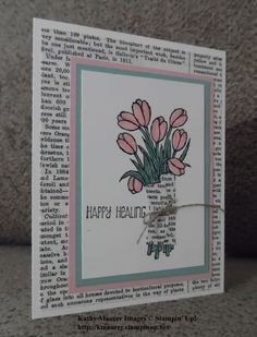 Get Well Card Made with Stampin' Up!'s Love Is Kindness Stamp Set.  For details, go to my Thursday, May 28, 2015 blog at http://kmaurer.stampinup.net