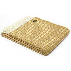 Tweedmill Cobweave English Mustard Throw / Blanket, as an authorised distributor of Tweedmill we bring you these luxurious pure new wool throws at best prices.