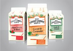 New Covent Garden Soup Co. Redesigned on Packaging of the World - Creative Package Design Gallery