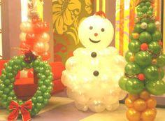 decoracao de natal com baloes