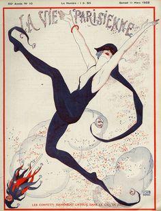 ✖ La Vie Parisienne, 1922, Georges Leonnec