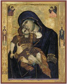 """Icon of the Theotokos """"Full of Grace"""" - Cent. Byzantine Art, Byzantine Icons, Russian Icons, Russian Art, Religious Icons, Religious Art, Madonna, Paint Icon, Christian Artwork"""