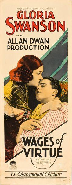 Wages of Virtue (1924) Stars: Gloria Swanson, Ben Lyon, Norman Trevor ~ Director: Allan Dwan