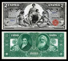 $2 bills from the late 1800s
