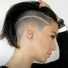 There is Somthing special about women with Short hair styles. I'm a big fan of Pixie cuts and buzzed cuts. Enjoy the many different styles. Short Hair Undercut, Undercut Hairstyles, Trendy Hairstyles, Haircuts, Undercut Pompadour, Short Sassy Hair, Short Hair Cuts For Women, Short Hair Styles, Shaved Blonde